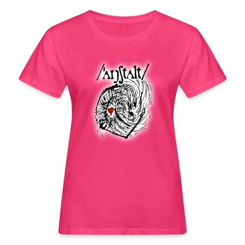 wesen mit herz und logo - Frauen Bio-T-Shirt
