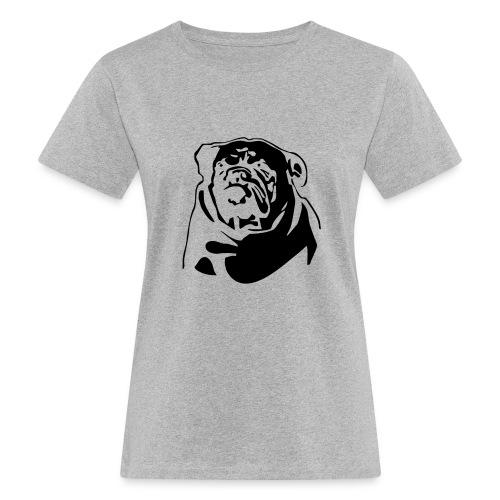 English Bulldog - negative - Naisten luonnonmukainen t-paita