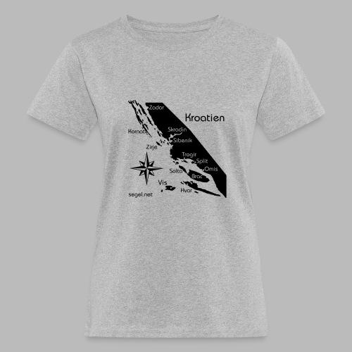 Crewshirt Urlaub Motiv Kroatien - Frauen Bio-T-Shirt
