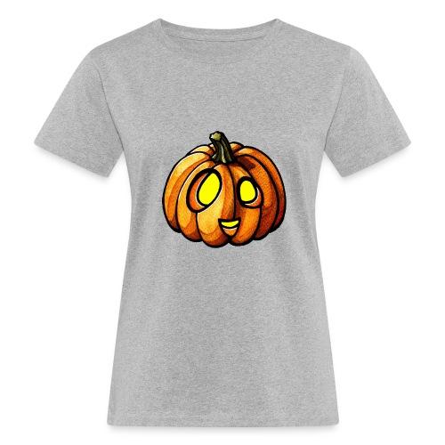 Pumpkin Halloween watercolor scribblesirii - Frauen Bio-T-Shirt