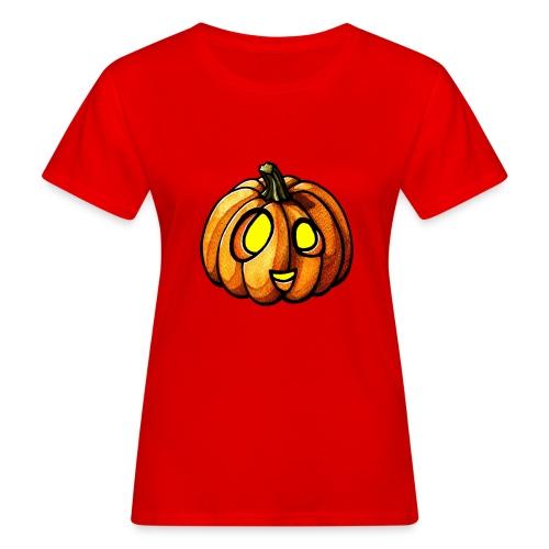Pumpkin Halloween watercolor scribblesirii - Naisten luonnonmukainen t-paita