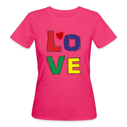LOVE - Frauen Bio-T-Shirt