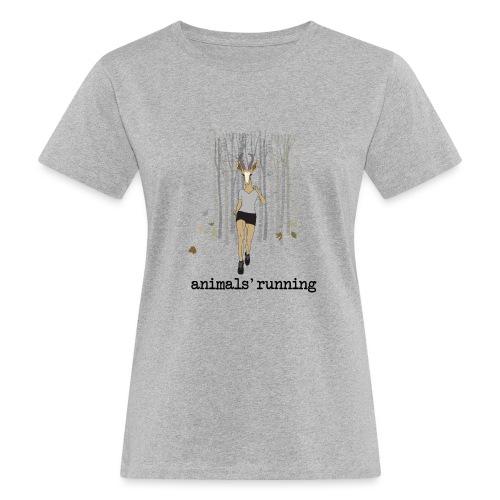Antilope running - T-shirt bio Femme