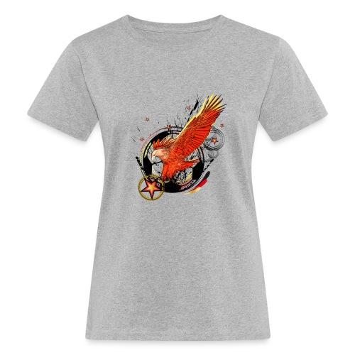Adler mit Deutschland Stern - Frauen Bio-T-Shirt