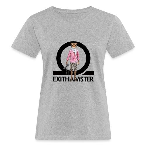 EXITHAMSTER LOGO WHITE BG - Women's Organic T-Shirt