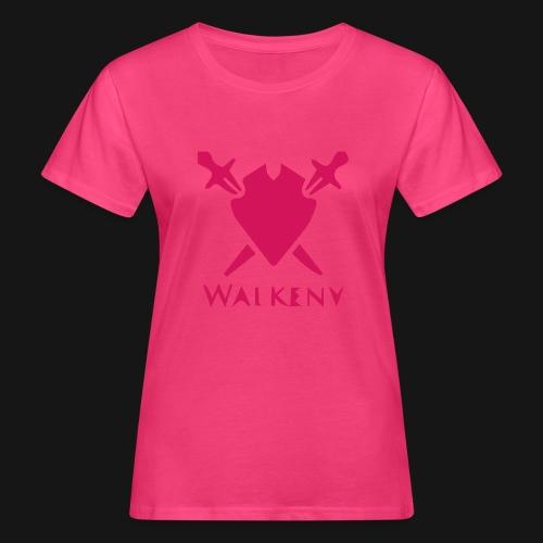 Das Walkeny Logo mit dem Schwert in PINK! - Frauen Bio-T-Shirt