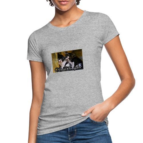 Amor por los gatos - Camiseta ecológica mujer