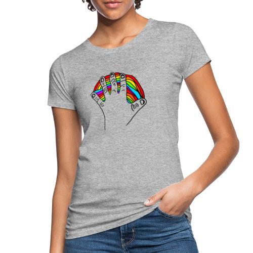 Anna's rainbow hand for peace - Økologisk T-skjorte for kvinner