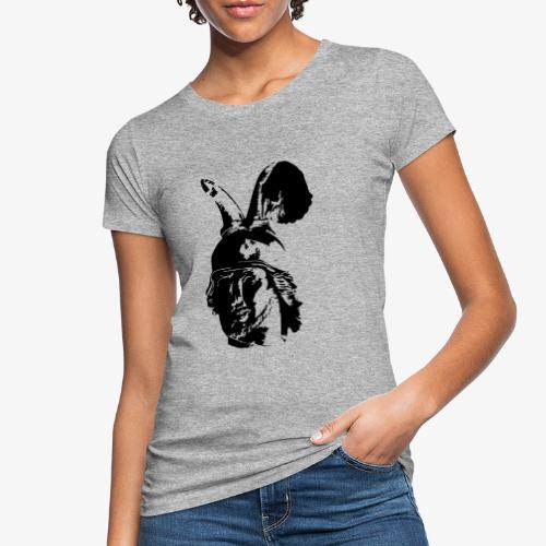 Kopf des Hermannsdenkmals - einfarbig, schlicht - Frauen Bio-T-Shirt