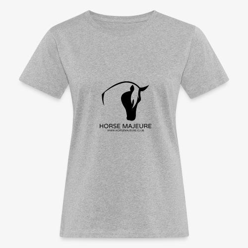 Horse Majeure Logo / Musta - Naisten luonnonmukainen t-paita