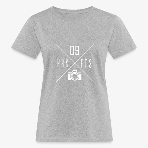 Cross weiss - Frauen Bio-T-Shirt