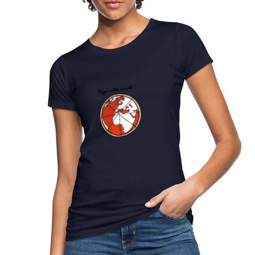 Mondo a forma di pizza - T-shirt ecologica da donna