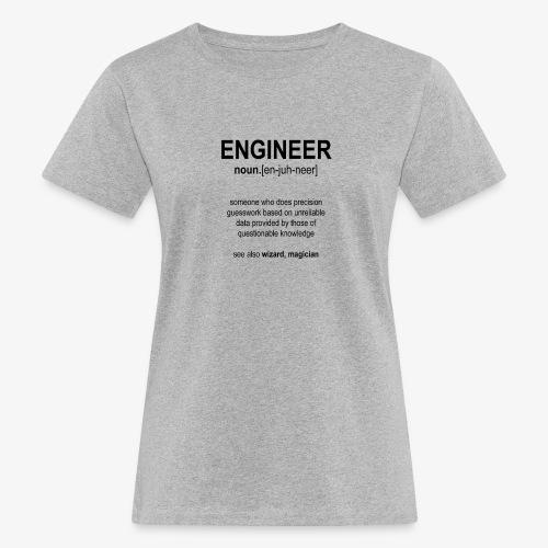 Engineer Def. 1 (Black) - T-shirt bio Femme