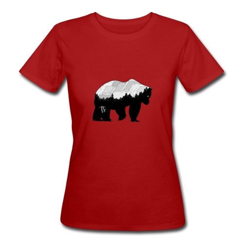 Geometric Mountain Bear - T-shirt ecologica da donna