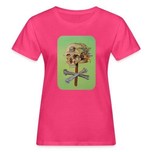 oil painting of skull and bones - Vrouwen Bio-T-shirt