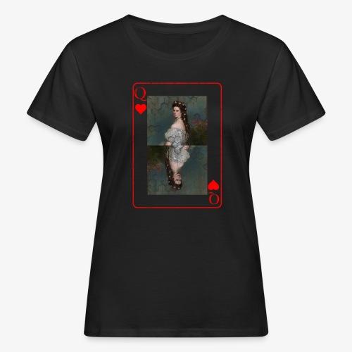 Kaiserin Sissi spielkarte Österreich - Frauen Bio-T-Shirt