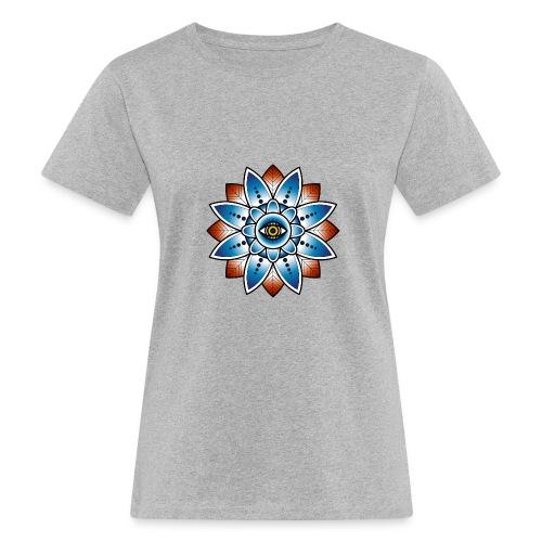 Psychedelisches Mandala mit Auge - Frauen Bio-T-Shirt