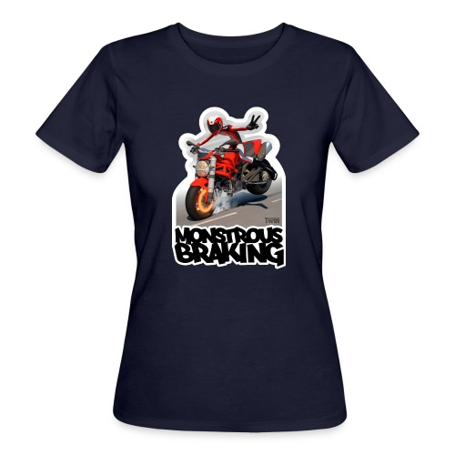 Ducati Monster, a motorcycle stoppie. - Camiseta ecológica mujer