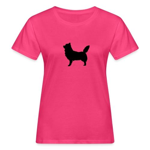 Chihuahua pitkakarva musta - Naisten luonnonmukainen t-paita