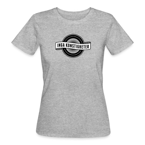 Inga Konstigheters klassiska logga (ljus) - Ekologisk T-shirt dam