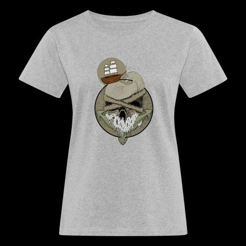 Ancre skull - T-shirt bio Femme