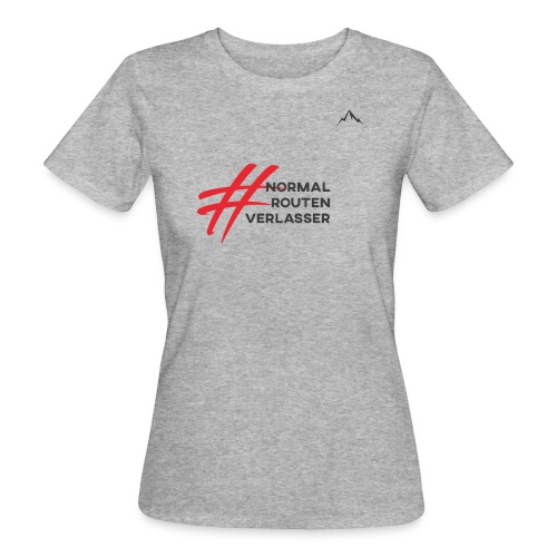 Expedition Marke, #Normalroutenverlasser, black - Frauen Bio-T-Shirt