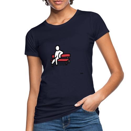 white man seduto - T-shirt ecologica da donna