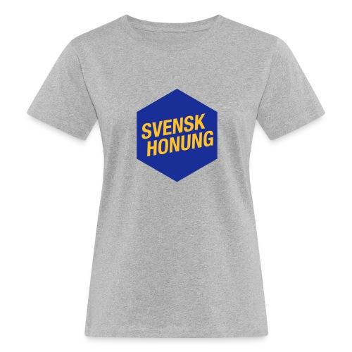 Svensk honung Hexagon Blå/Gul - Ekologisk T-shirt dam