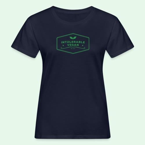 Intolerable Vegan Logo - Green - Ekologisk T-shirt dam
