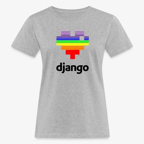 heart pride black - Women's Organic T-Shirt