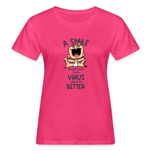 910 smile faster than a virus - Vrouwen Bio-T-shirt