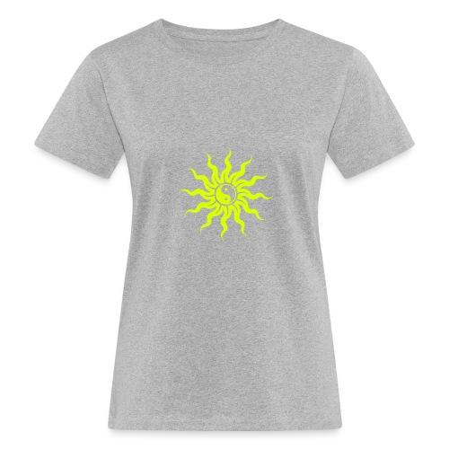 Yin Yang Sonne - Frauen Bio-T-Shirt