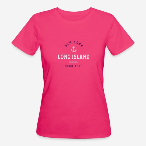 NEW YORK - LONG ISLAND - T-shirt ecologica da donna