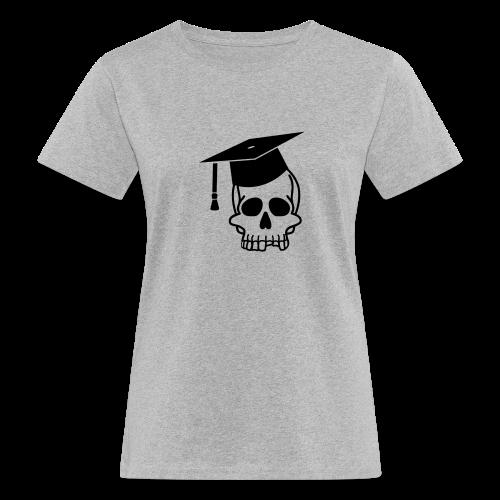 Schädel mit Doktorhut - Geschenk Examen, Prüfung - Frauen Bio-T-Shirt