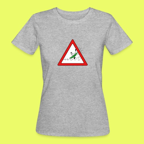 Kajak Unfall im Dreieck - Frauen Bio-T-Shirt
