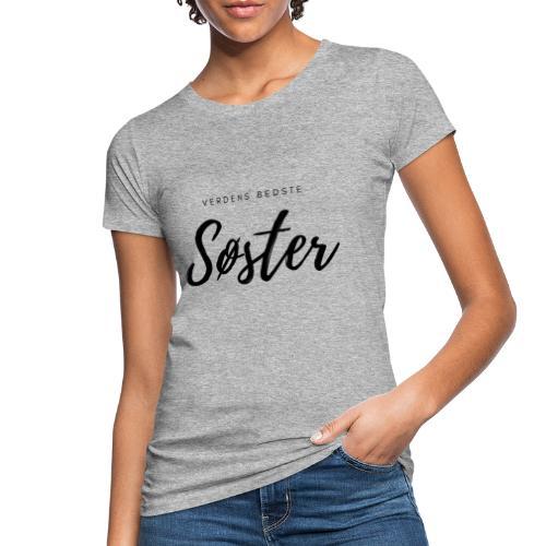 Verdens bedste søster, sort print - Organic damer