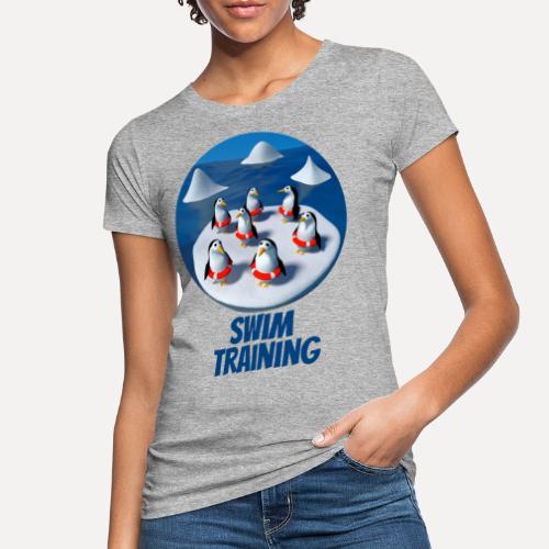 Pinguine beim Schwimmunterricht - Women's Organic T-Shirt