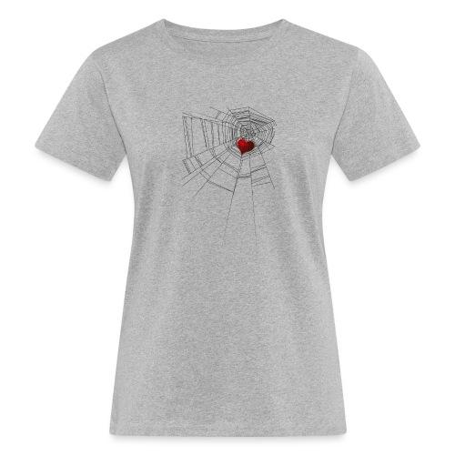 trappola_del_cuore - T-shirt ecologica da donna