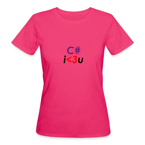 C# is love - T-shirt ecologica da donna
