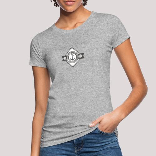 Anker und Steuerrad - Frauen Bio-T-Shirt