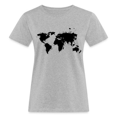 Weltkarte Splash - Frauen Bio-T-Shirt