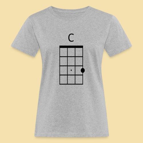 Ukulele C-Dur Akkordklein - Frauen Bio-T-Shirt