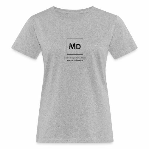 MD Logo - schwarz - Frauen Bio-T-Shirt