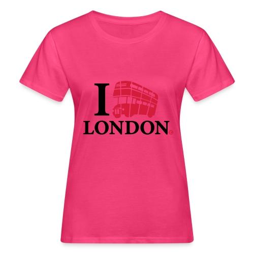 I love (Double-decker bus) London - Women's Organic T-Shirt