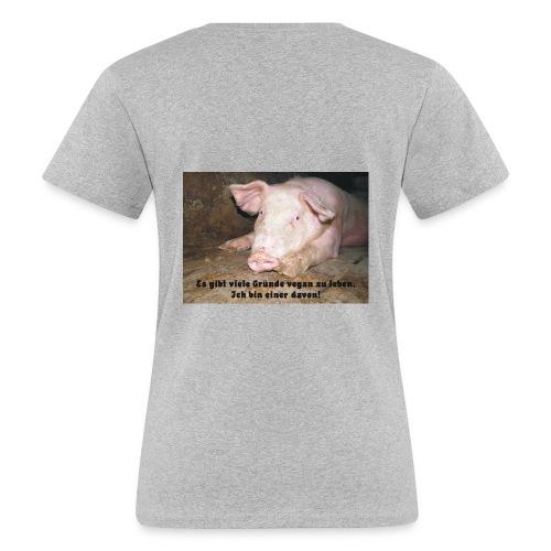 Gründe vegan zu leben - Frauen Bio-T-Shirt