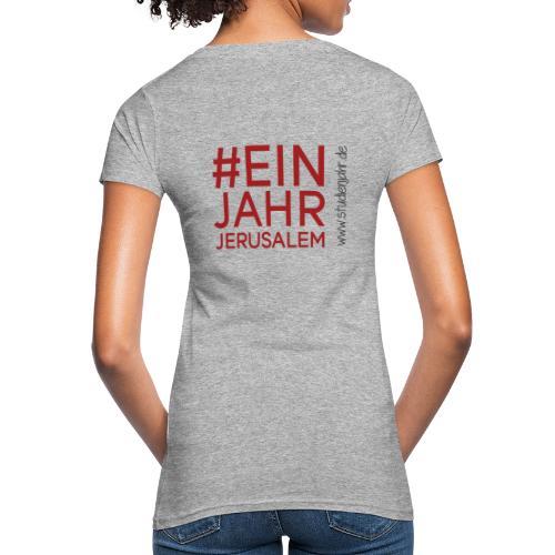 Studienjahrslinie vorne & Hashtag (schwarz) hinten - Frauen Bio-T-Shirt