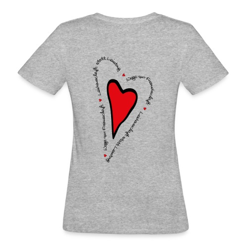 Ullihunde - Herz - Frauen Bio-T-Shirt