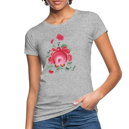 Ostfriesische Rose - Frauen Bio-T-Shirt