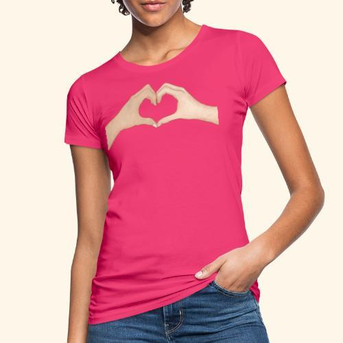 Mains Coeur Amour - Love hands - T-shirt bio Femme