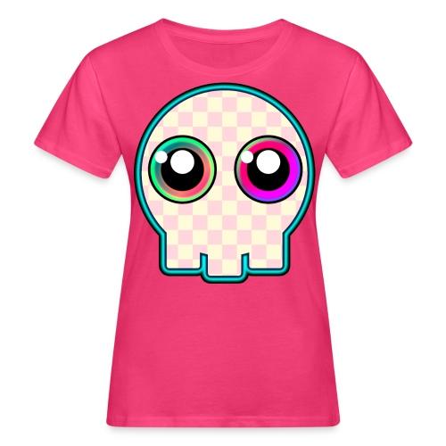 dödskalle rosa mycket söt tecknad stil - Women's Organic T-Shirt